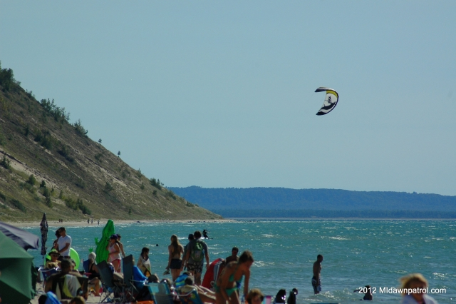 Kiteboarding in Empire Labor Day Weekend 2012