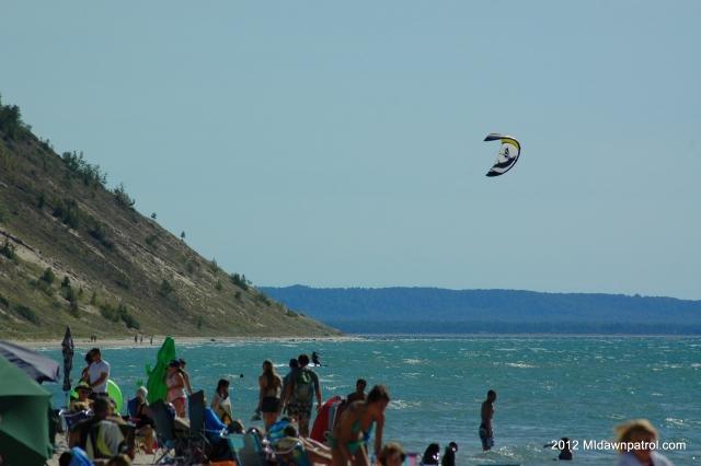 Kiteboarding in Empire Labor Day Weekend 2012