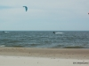 Kitesurfing on Lake Michigan in March