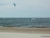 Kitesurfing on Lake Michigan in March